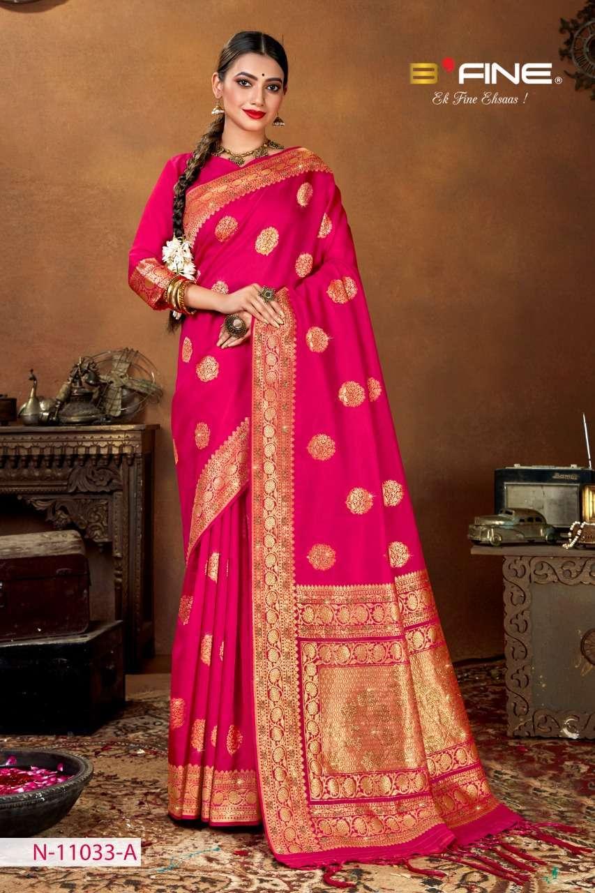 B Fine Aakruti Soft Silk Designer Traditional Sarees Collection 03