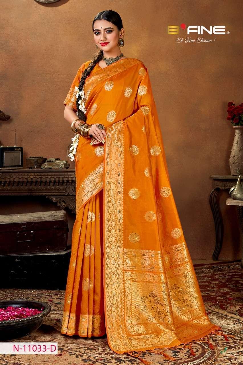 B Fine Aakruti Soft Silk Designer Traditional Sarees Collection 04