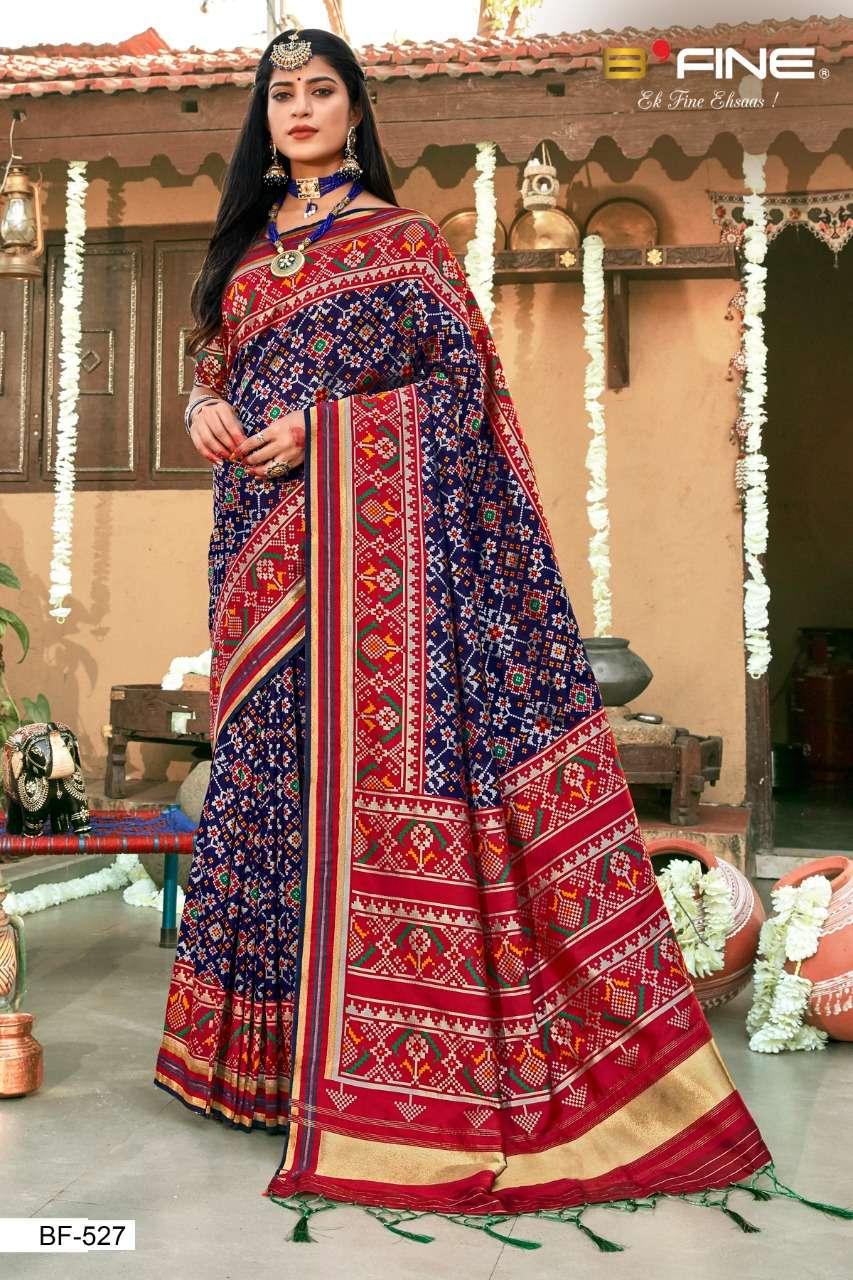B Fine Patola Heavy Silk Designer Wedding Wear Sarees Collection  527