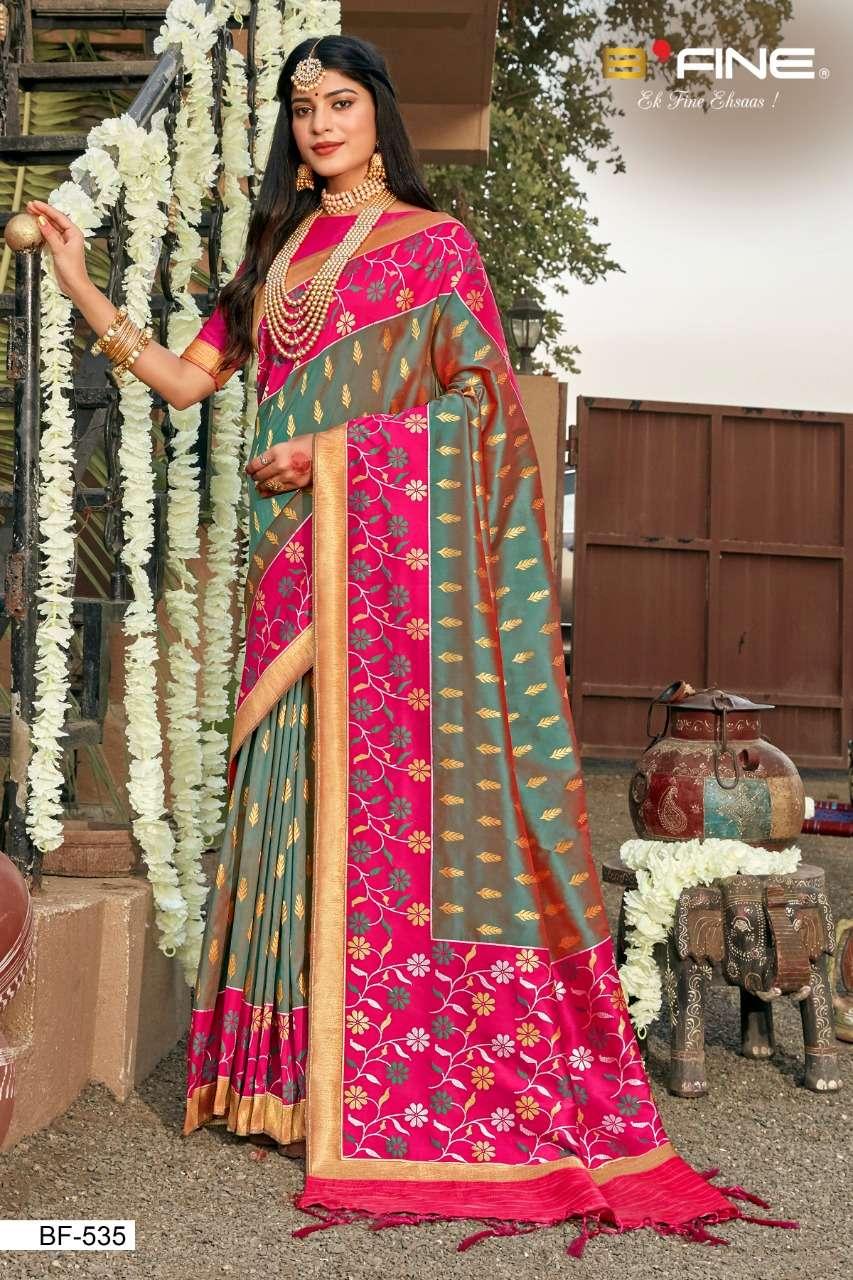 B Fine Patola Heavy Silk Designer Wedding Wear Sarees Collection  535
