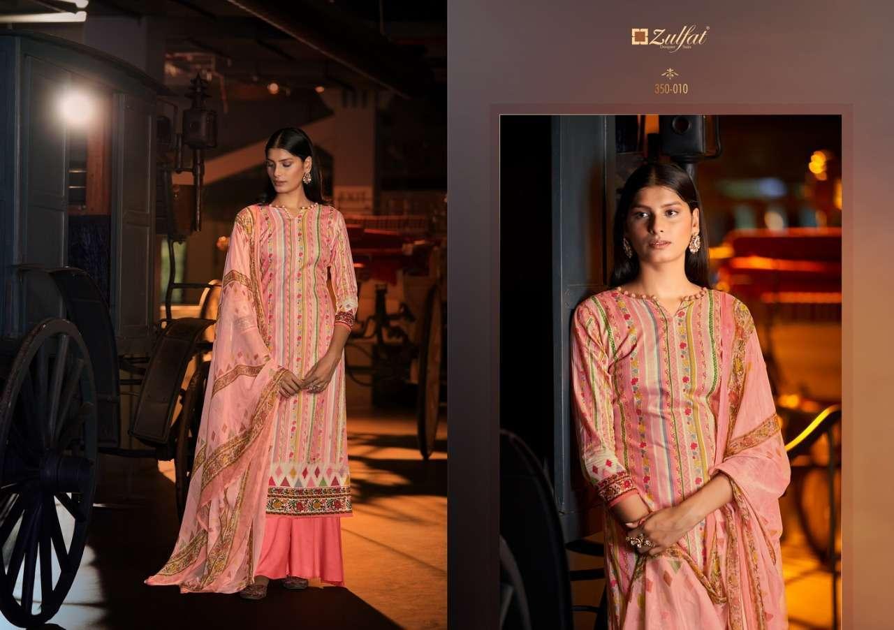 Belliza Designer Studio Zulfat Advika Cotton Digital Print Dress Material Collection 10