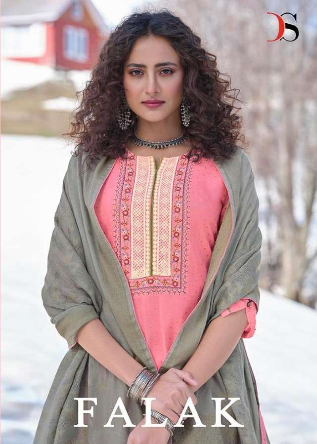 Deepsy suits Falak Pure cotton With embroidery Work Dress Material collection