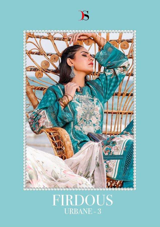 Deepsy Suits Firdous urbane Vol 3 Pure cotton Print with Embroidery Work Pakistani Suits collection