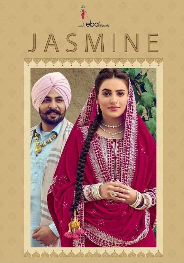 Eba Lifestyle Jasmine Baluming Georgette With Heavy embroidery Work Dress Material collection
