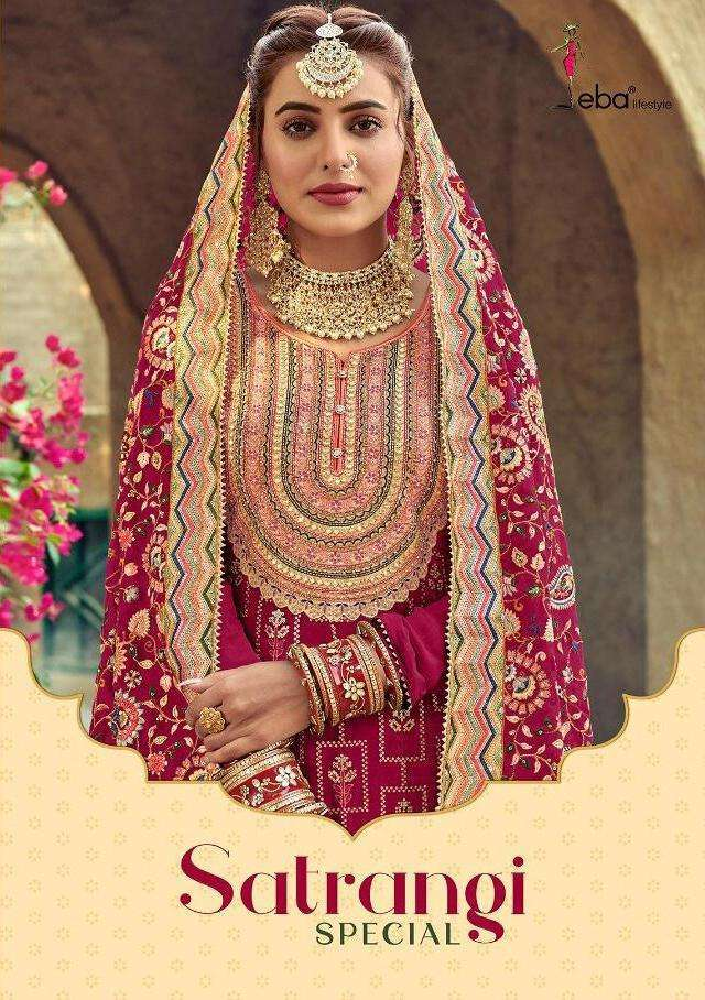 Eba Lifestyle Satrangi Special Georgette With Heavy Embroidery Work salwar Kameez Collection