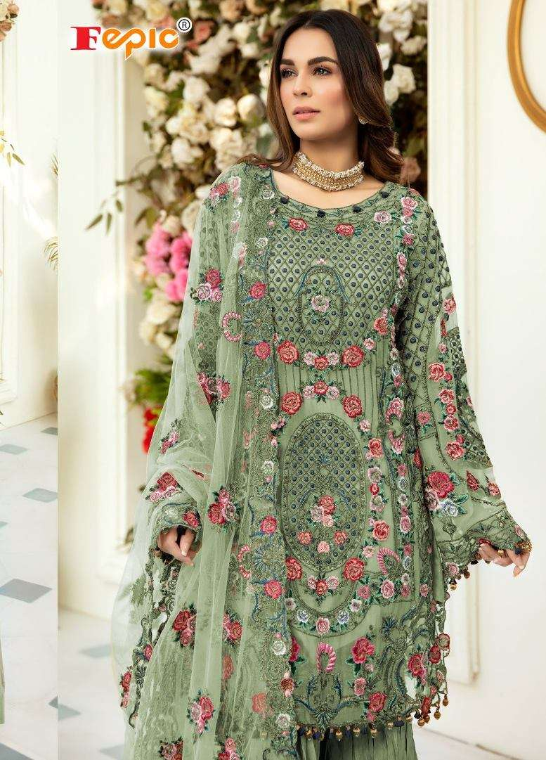 Fepic Rosemeen 91004 Series Net With Embroidery Work Pakistani Suits collection