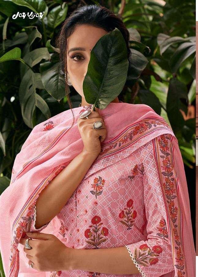 Jay Vijay Enaara Pure cotton Block Khadi print with hand work Salwar Kameez collection