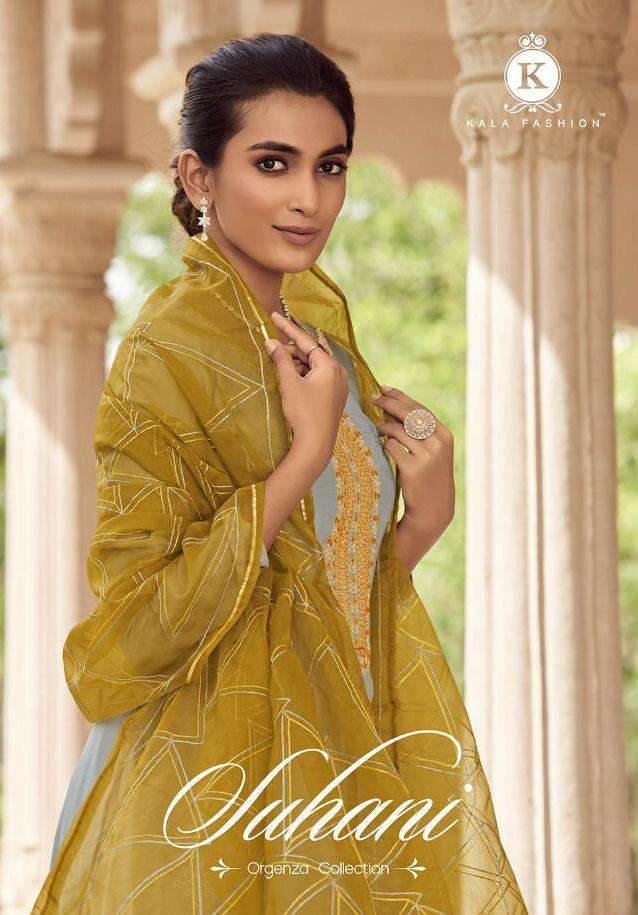 Kala Fashion Suhani pure Muslin With Embroidery Work Dress Material collection