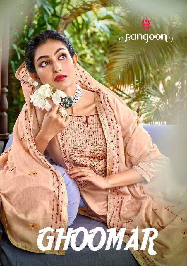 Kessi fabrics Rangoon Ghoomar Cotton With fancy Sequence Work Readymade Sharara Suits collection
