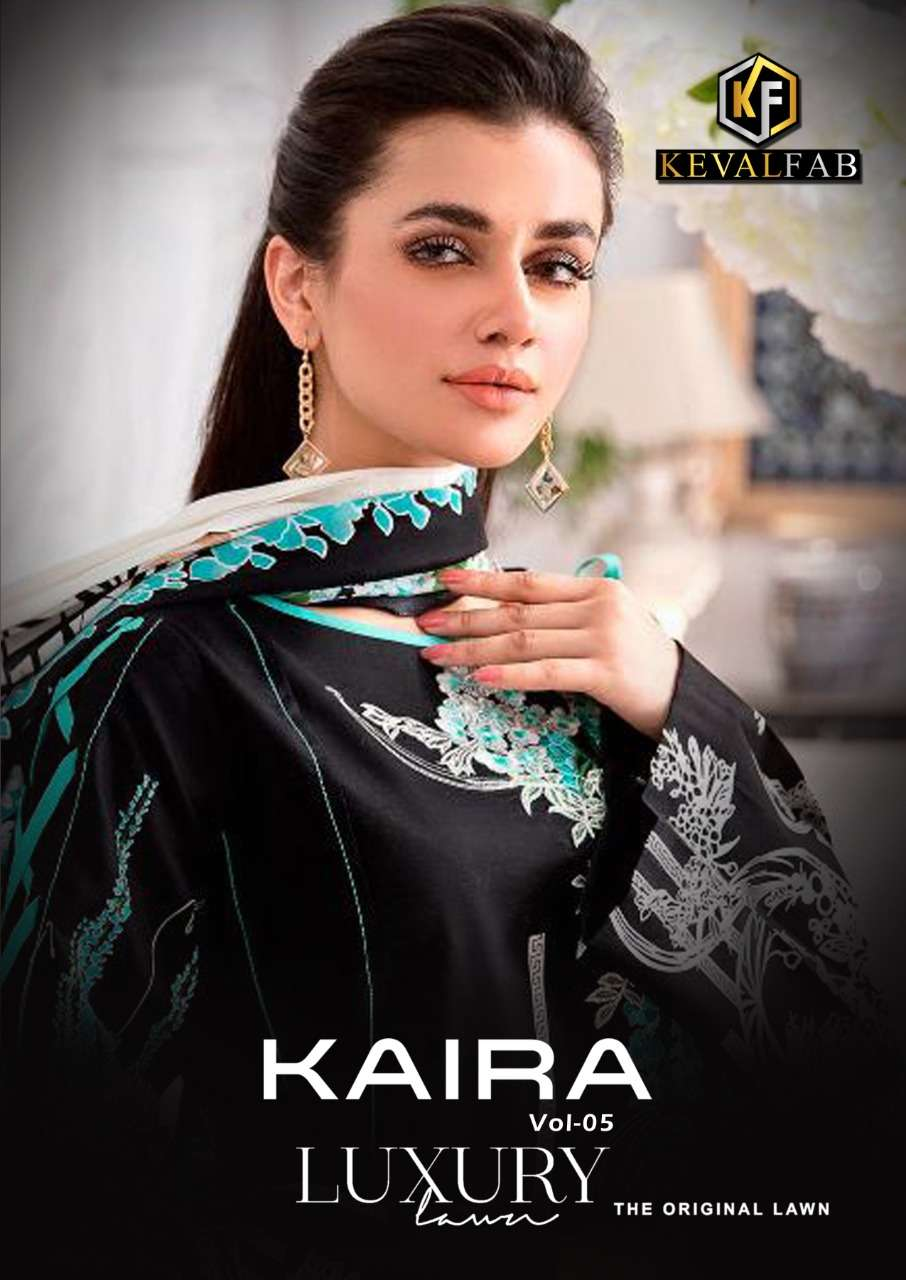 Keval Fab Kaira Vol 5 Luxury Lawn Printed pakistani Suits collection