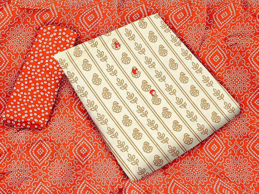 Khadi Cotton Printed Regular Wear Dress Material Collection 04