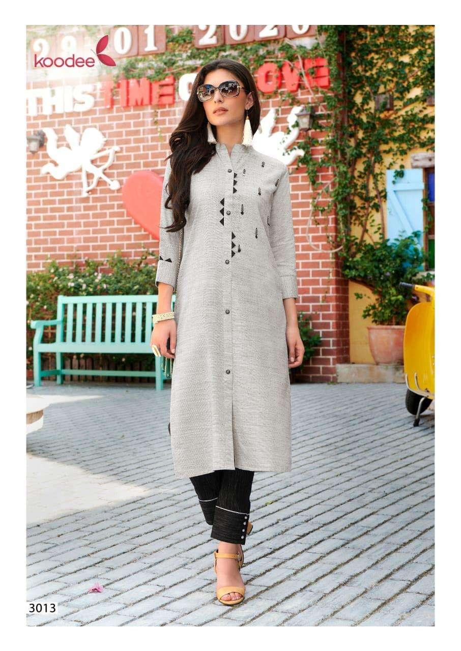 Koodee fashion Panihari Vol 3 Handloom Cotton Rayon Kurti With Pant Collection