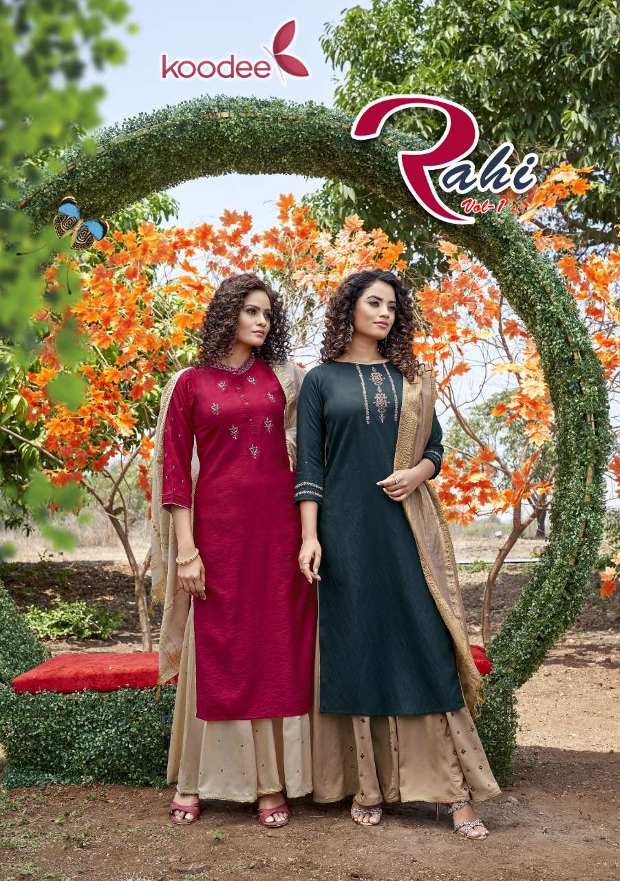 Koodee Rahi Vol 1 Pure Nylon Viscose With Work readymade Salwar Kameez collection