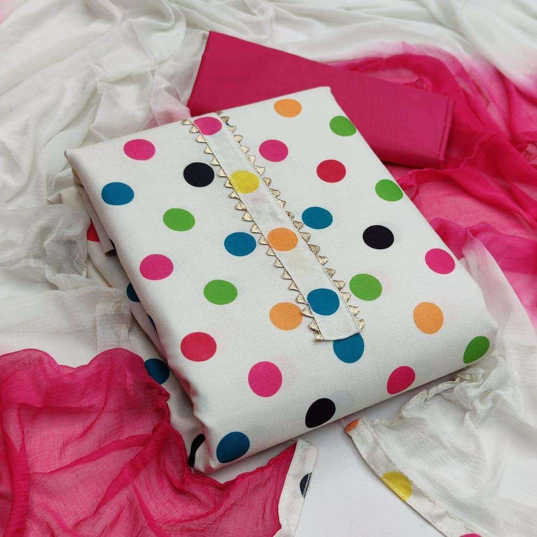 latest Slub cotton Printed With Nazneen Dupatta collection