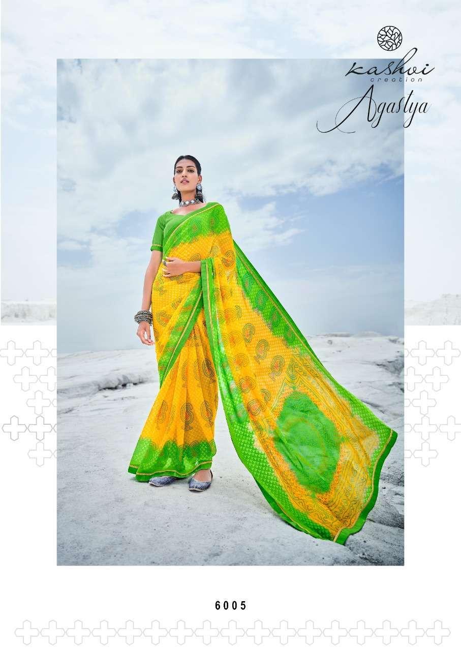 Lt Fabrics Kashvi Agastya Georgette With Fancy Border Regular Wear Sarees Collection 010