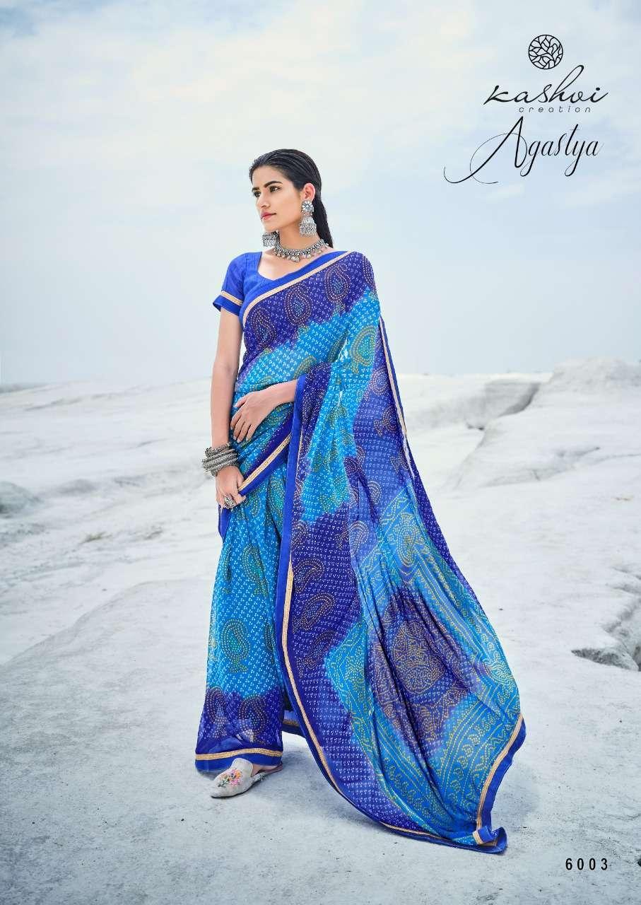 Lt Fabrics Kashvi Agastya Georgette With Fancy Border Regular Wear Sarees Collection 03
