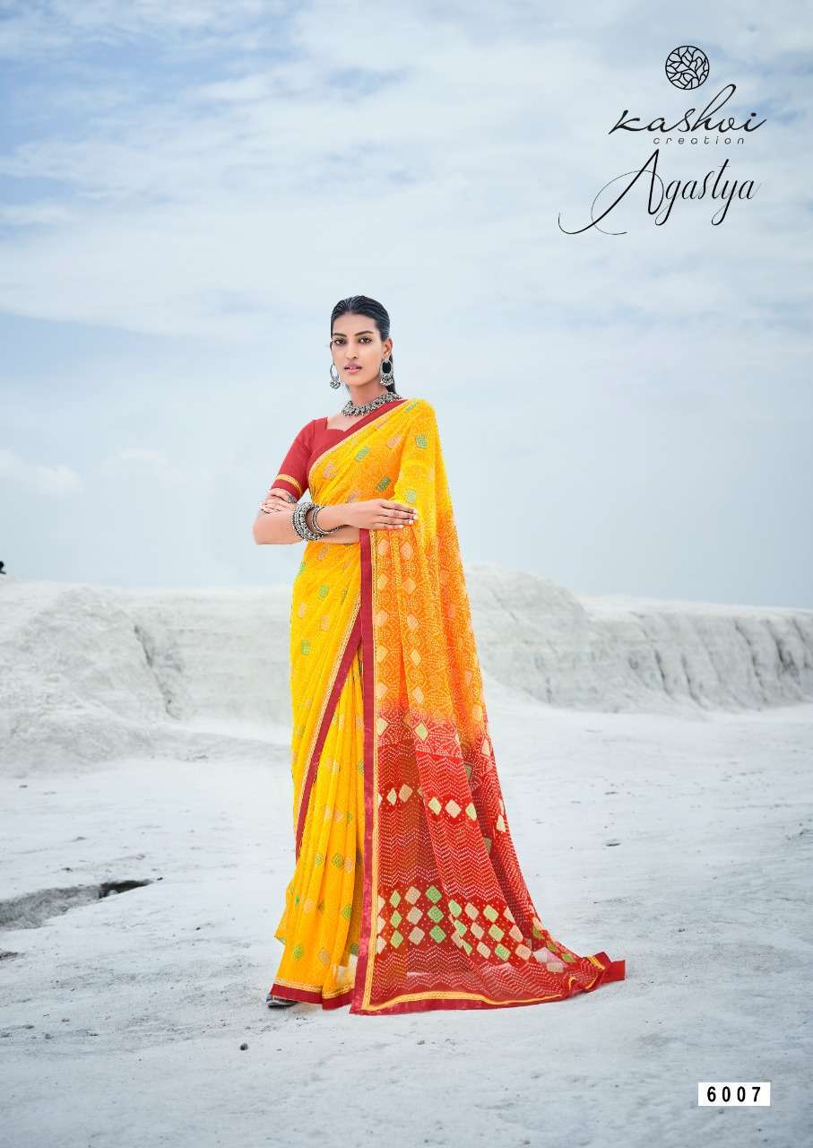 Lt Fabrics Kashvi Agastya Georgette With Fancy Border Regular Wear Sarees Collection 05