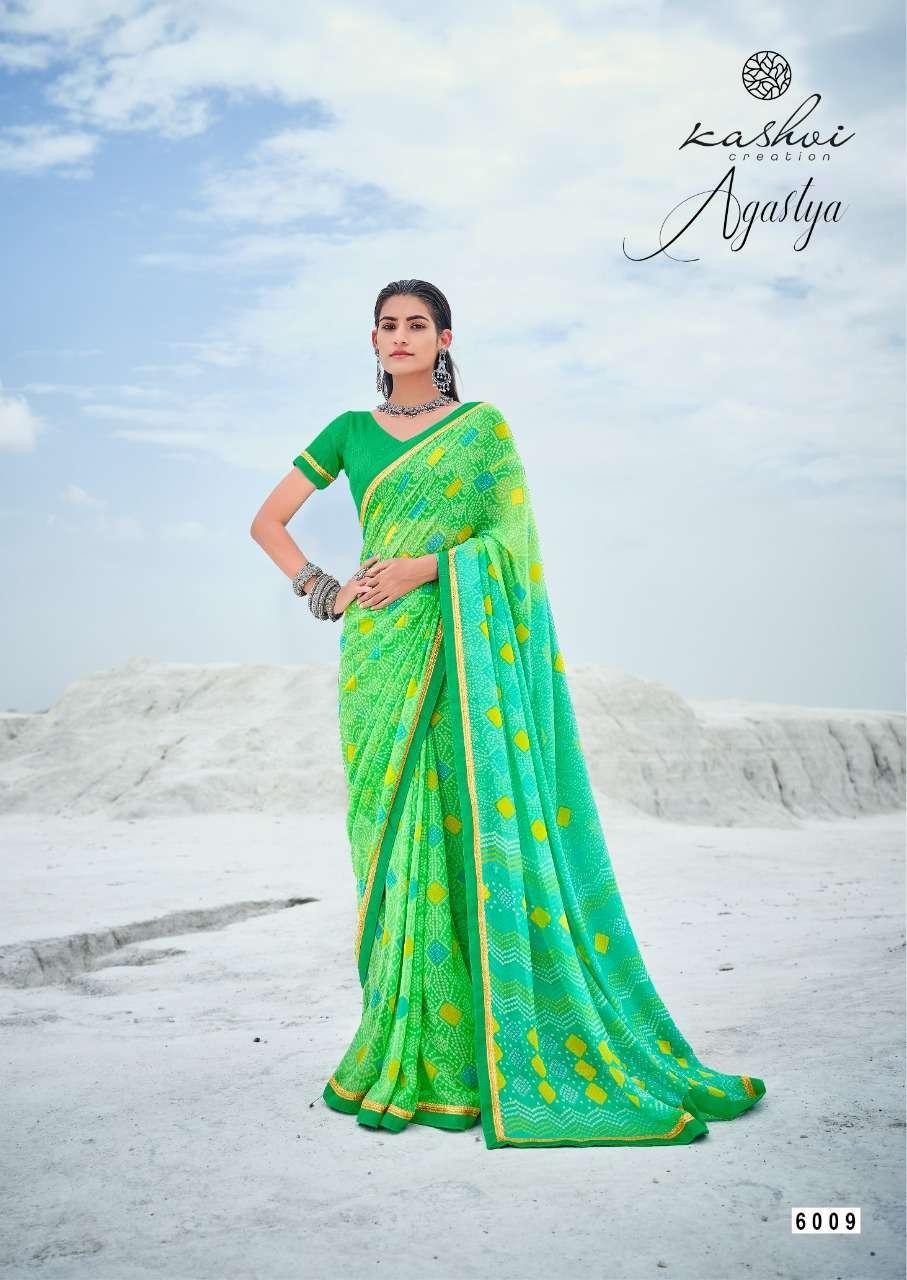 Lt Fabrics Kashvi Agastya Georgette With Fancy Border Regular Wear Sarees Collection 08