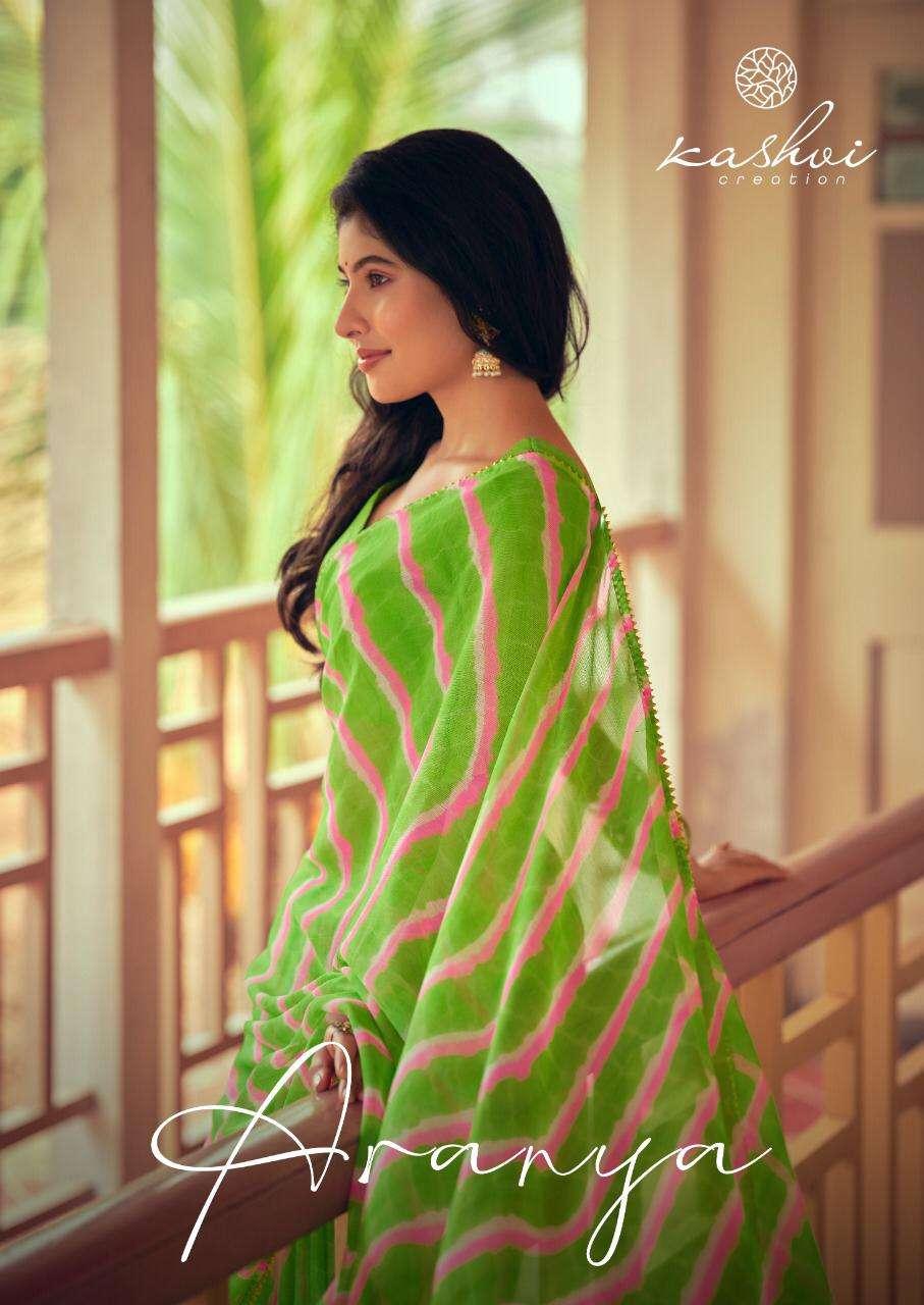 LT Fabrics Kashvi Aranya Chiffon With lace Border Sarees Collection