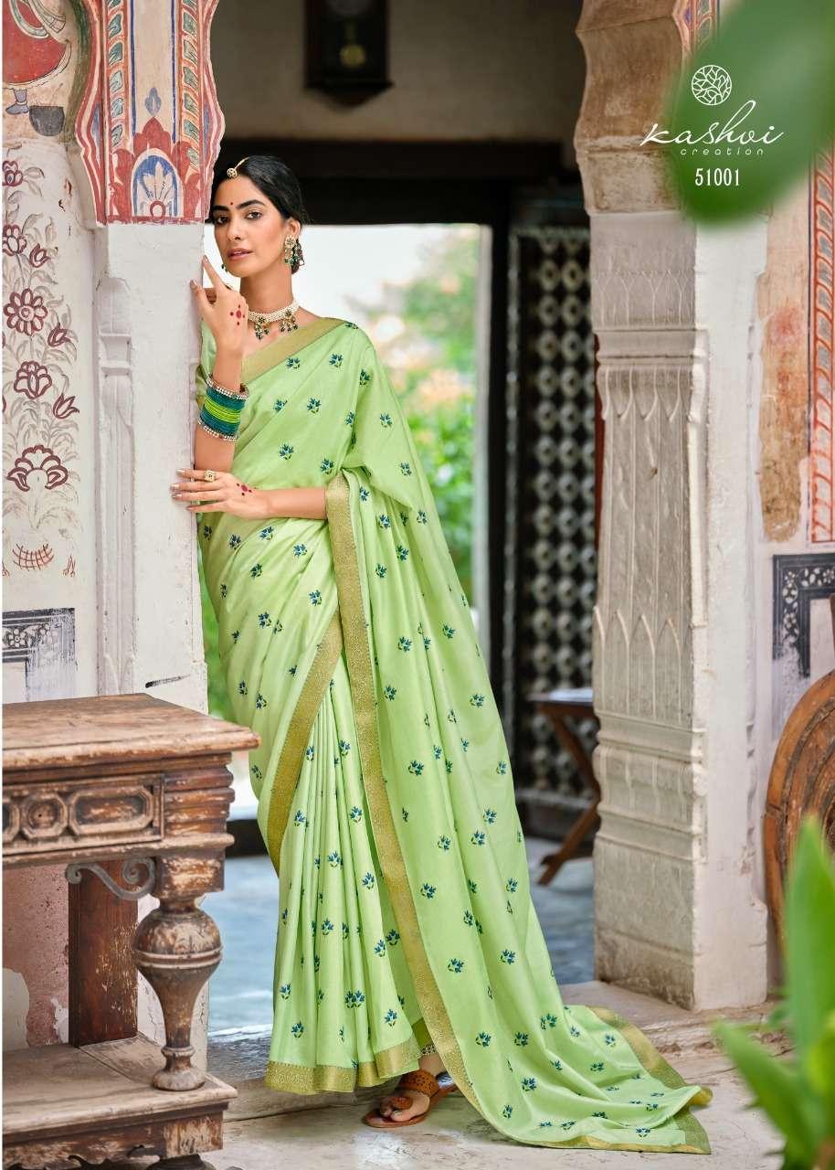 Lt Fabrics Kashvi Karigari Vichitra Zari With Fancy Lace Sarees Collection 01