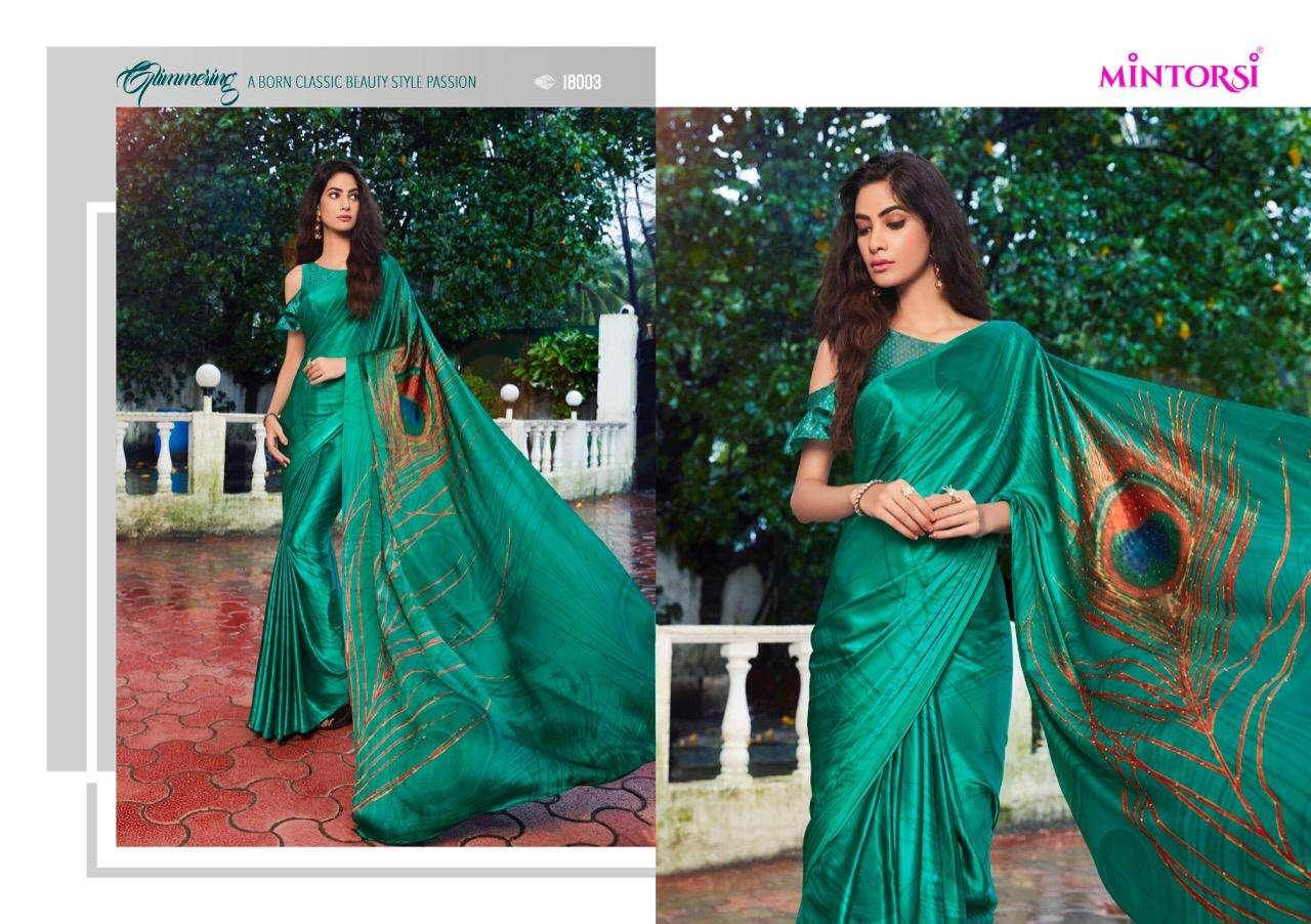 Mintorsi Mor Pankh Satin Satin Silk With Hand Print And Stone Diamond Work Sarees collection 06