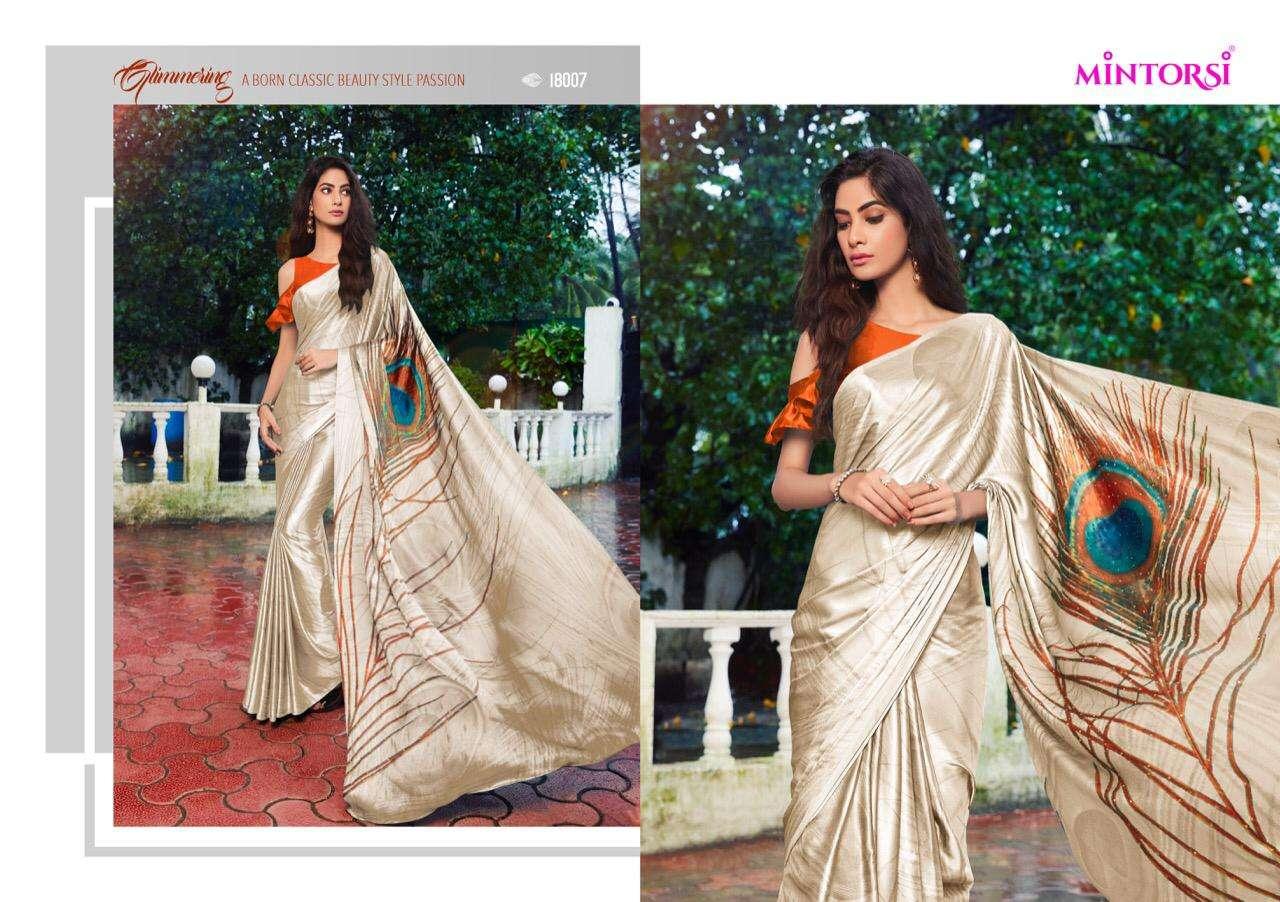 Mintorsi Mor Pankh Satin Satin Silk With Hand Print And Stone Diamond Work Sarees collection 07