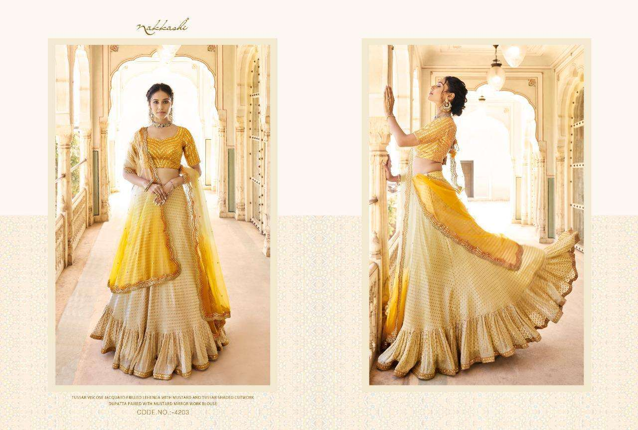Nakkashi Eira Designer Heavy Wedding Wear Lehenga Choli Collection  03