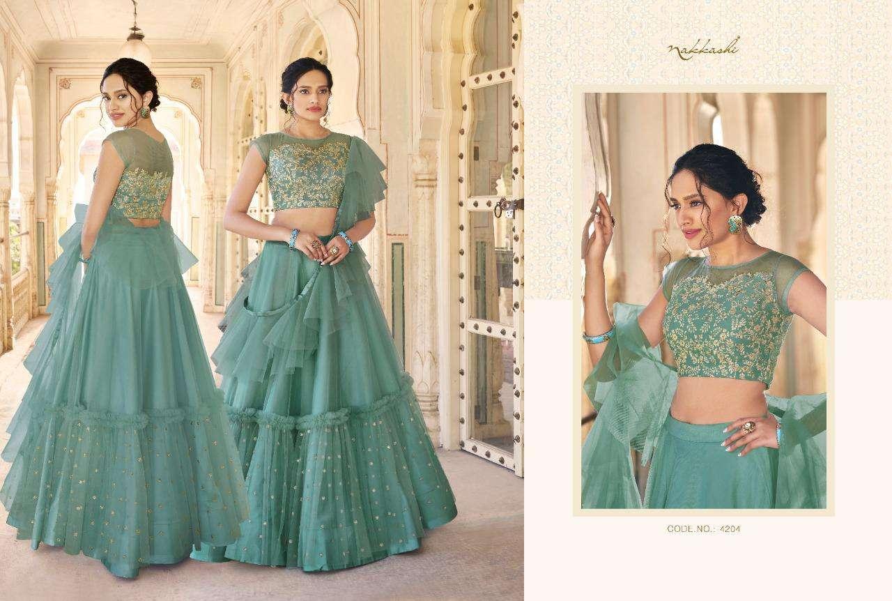 Nakkashi Eira Designer Heavy Wedding Wear Lehenga Choli Collection  04