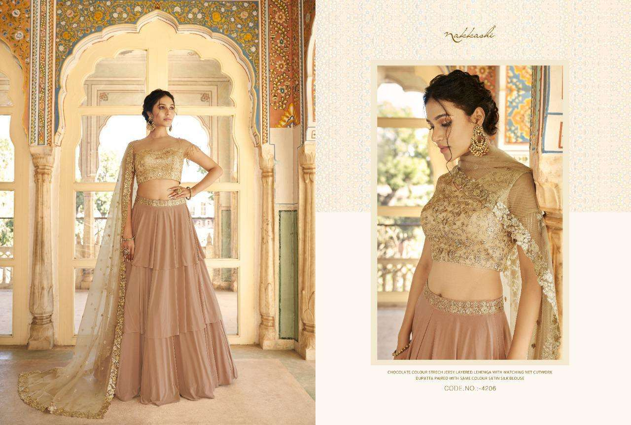 Nakkashi Eira Designer Heavy Wedding Wear Lehenga Choli Collection  06