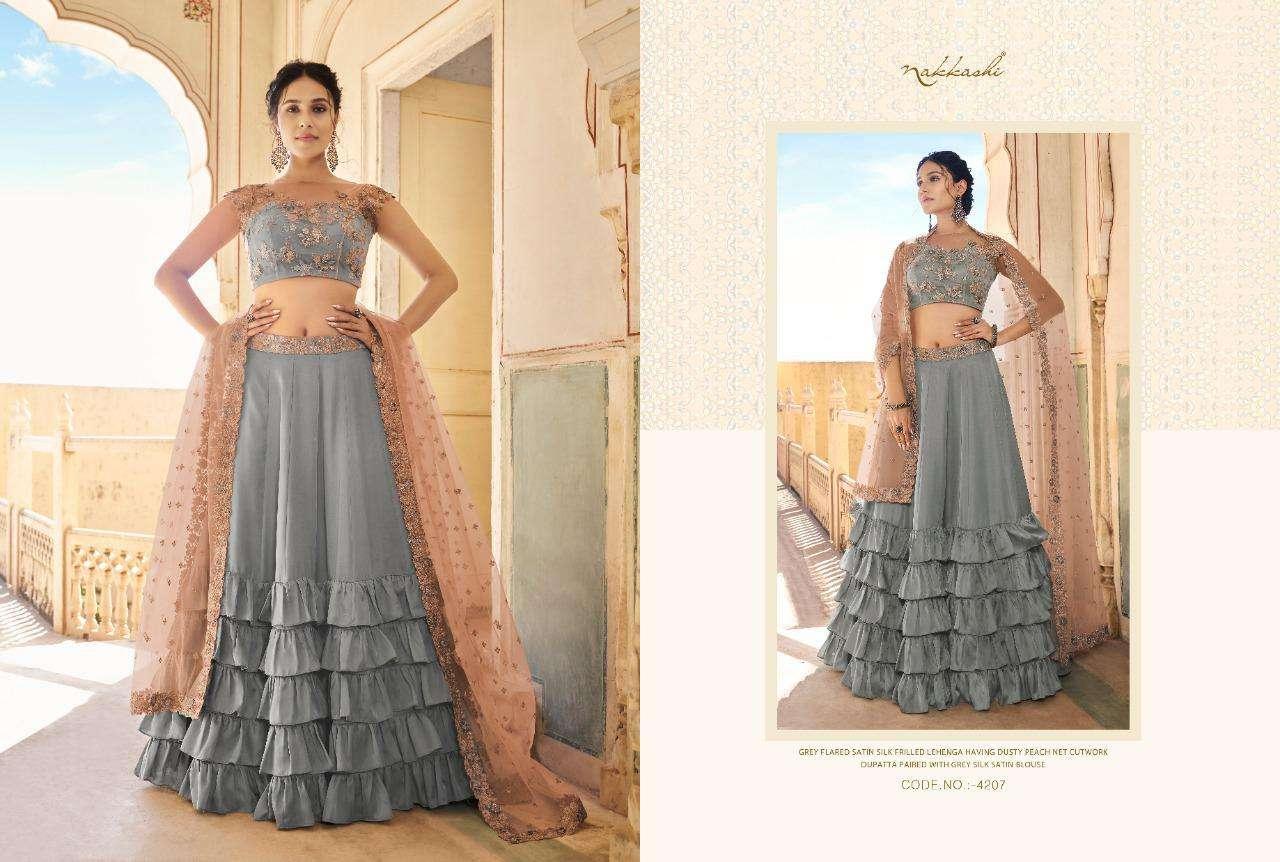 Nakkashi Eira Designer Heavy Wedding Wear Lehenga Choli Collection  07