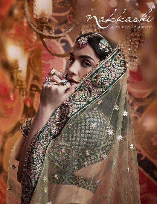 Nakkashi Jashn Raw Silk Designer Wedding Lehenga choli Collection