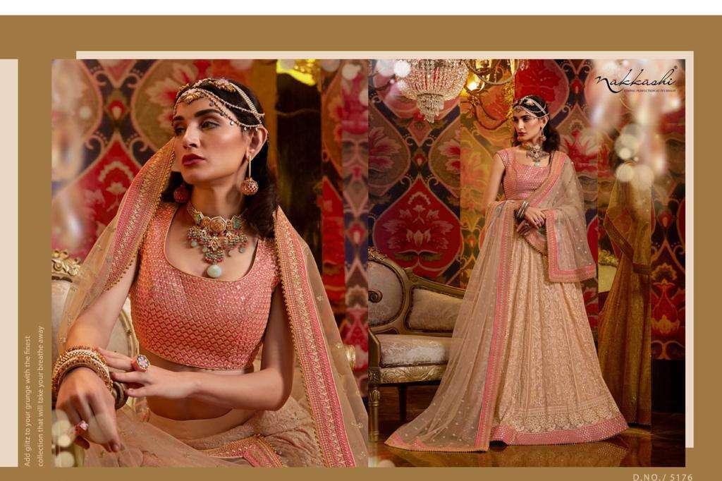 Nakkashi Jashn Raw Silk Designer Wedding Lehenga Choli Collection 5176