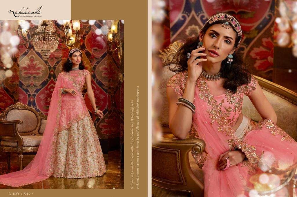 Nakkashi Jashn Raw Silk Designer Wedding Lehenga Choli Collection 5177
