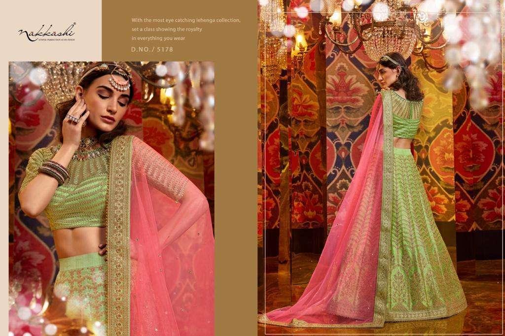 Nakkashi Jashn Raw Silk Designer Wedding Lehenga Choli Collection 5178