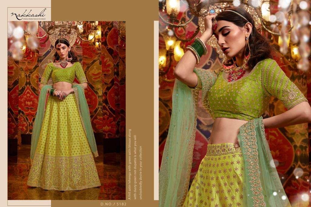 Nakkashi Jashn Raw Silk Designer Wedding Lehenga Choli Collection 5182