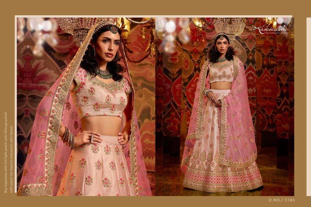 Nakkashi Jashn Raw Silk Designer Wedding Lehenga Choli Collection 5183