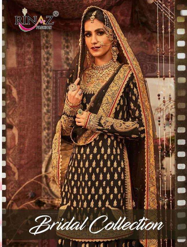 Rinaz fashion Bridal Collection Faux Georgette With Heavy Embroidery Work Pakistani Salwar Suits Collection