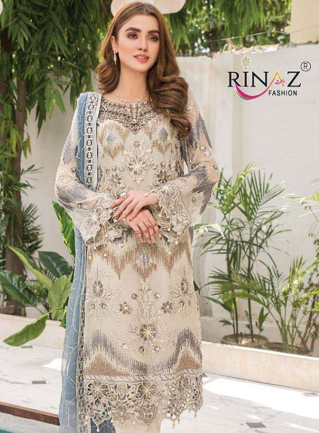 Rinaz fashion Maryams Gold Vol 11 faux georgette With Heavy Embroidery Diamond work Pakistani Suits collection