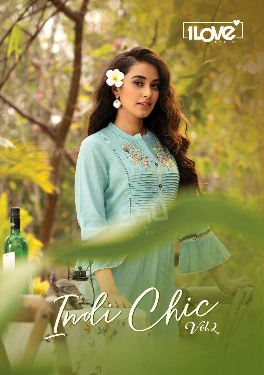 S4u 1love indi chic vol 2 Rayon With hand Work Kurti With Pant Collection