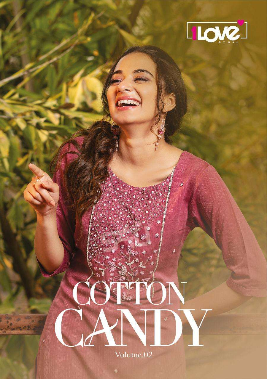 s4u 1love Cotton Candy Vol 2 Premium Rayon With Work Designer Kurti Collection