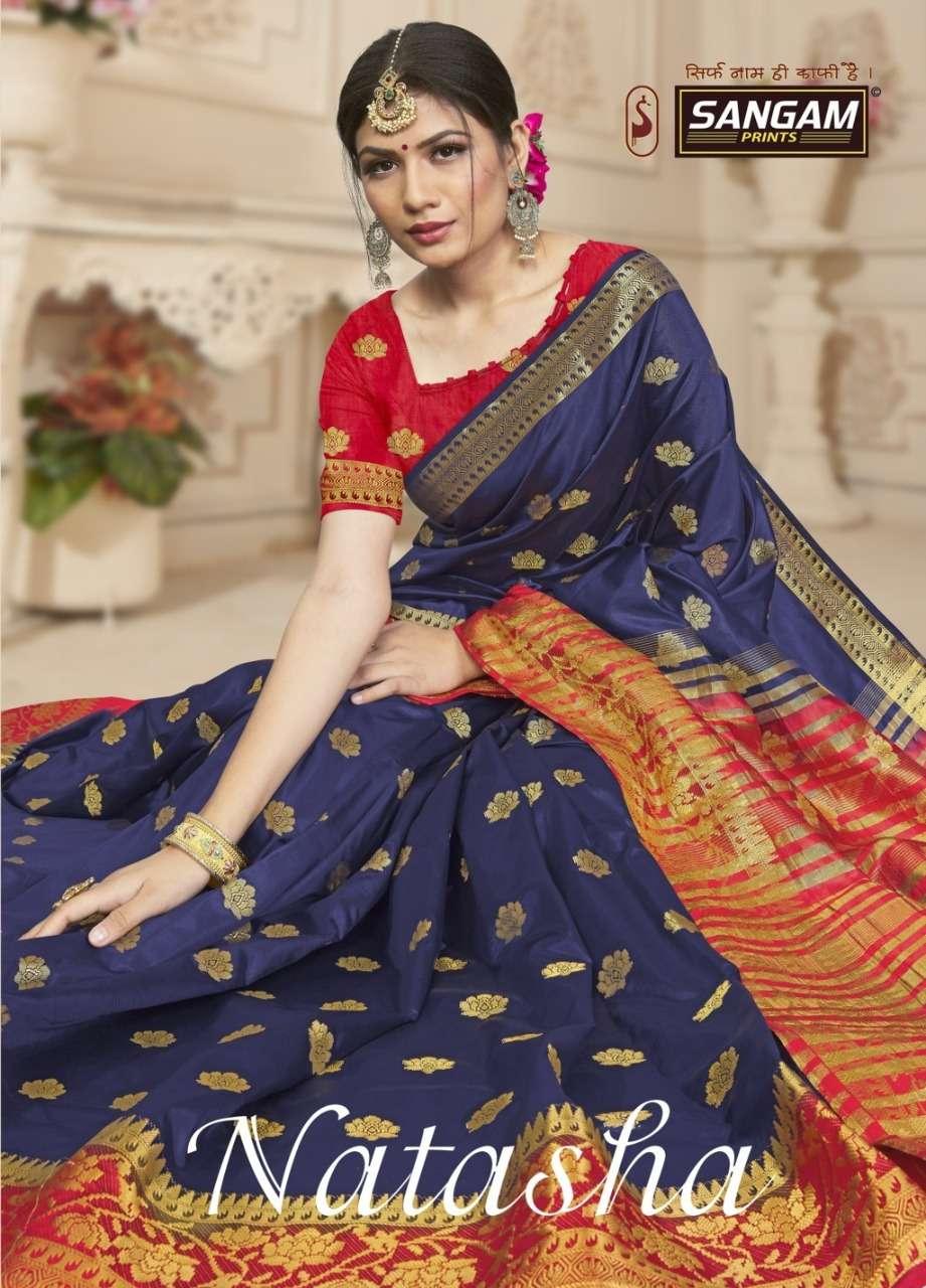 Sargam prints Natasha Silk Traditional Sarees collection