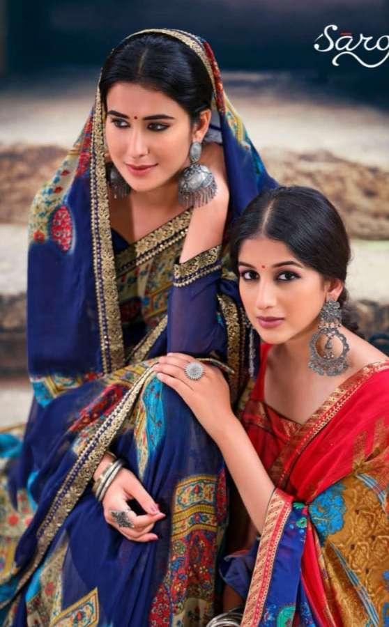 Saroj Gorgeous Vol 3 Soft georgette Printed Sarees collection