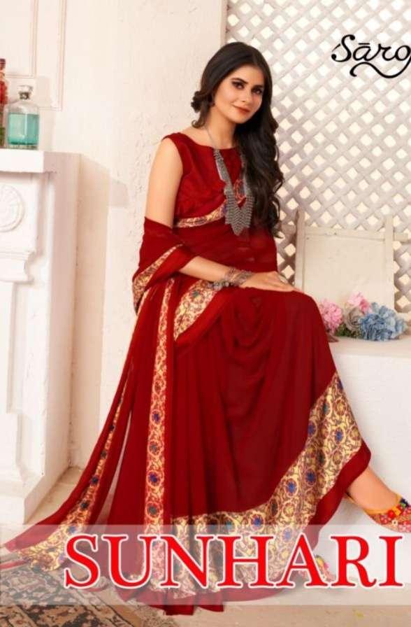 Saroj Sunhari Soft Georgette Sarees collection