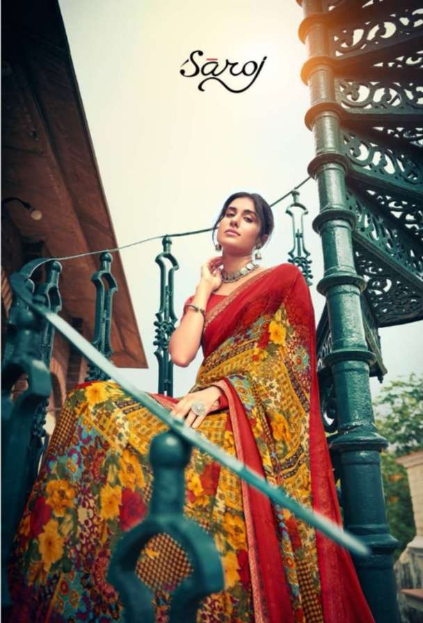 Saroj Victoria Vol 2 Georgette Printed Sarees collection