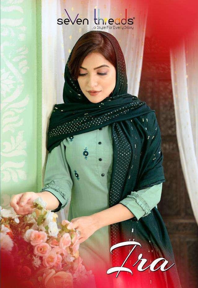 Seven Threads Ira Tesla silk With Khatli hand Work readymade Salwar Suits collection