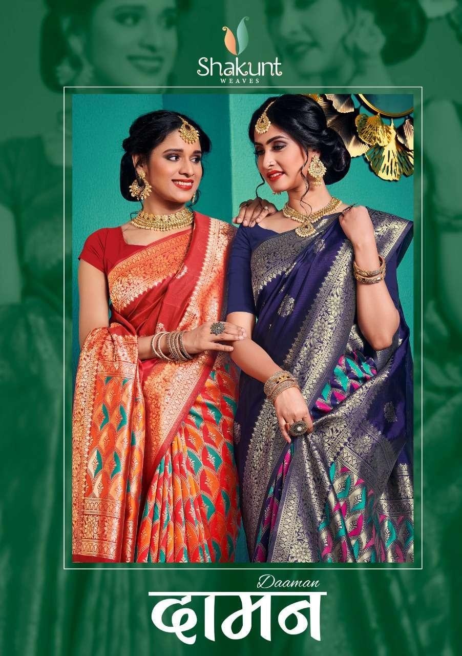 shakunt Weaves Daaman Art silk Traditional Sarees collection