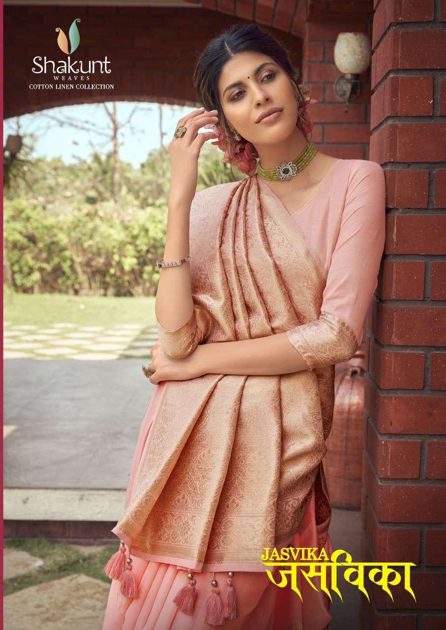 Shakunt Weaves Jasvika Linen Cotton Weaving Traditional Sarees collection