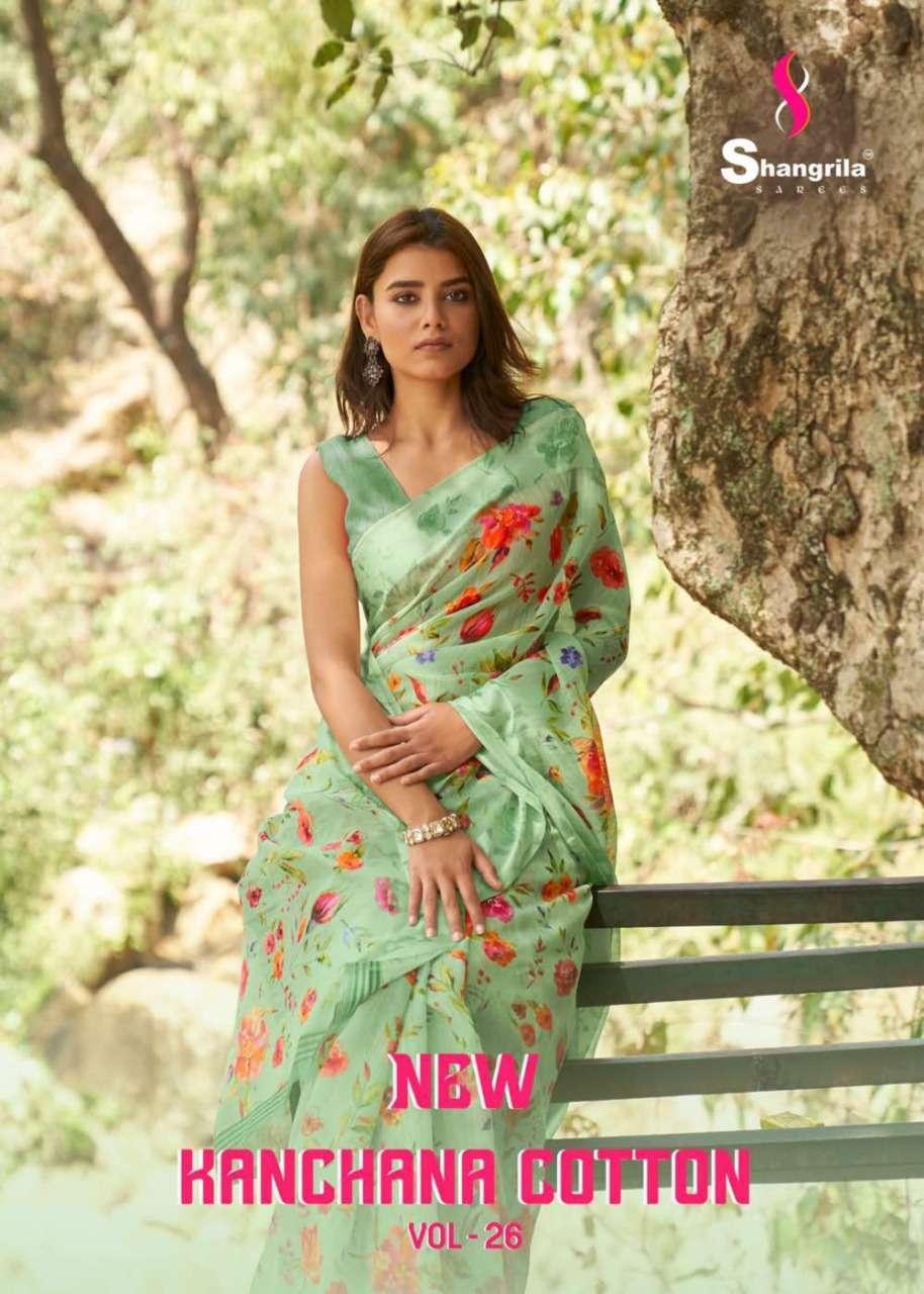 Shangrila Sarees New Kanchana Vol 26 Linen Cotton With Art Print Sarees Collection