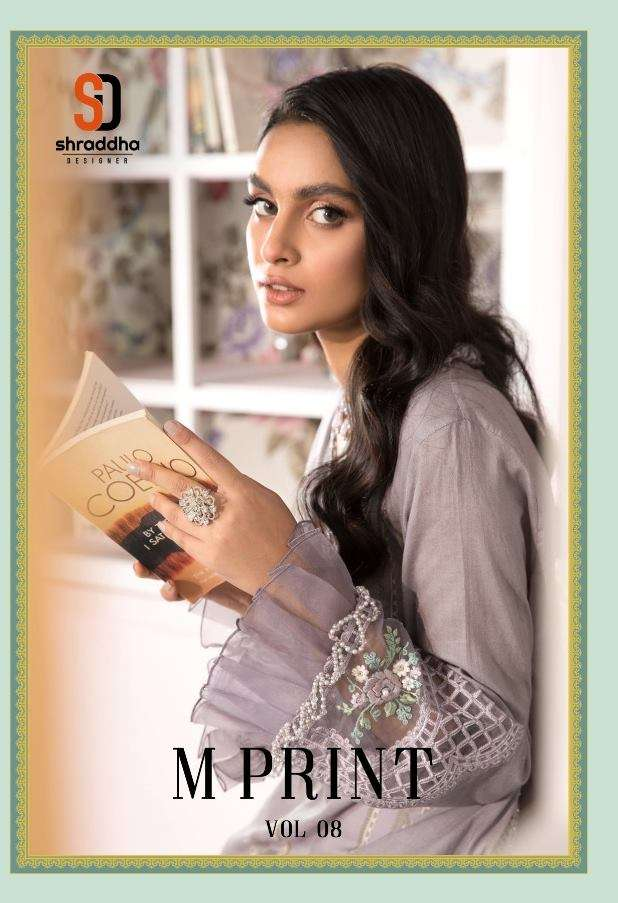 Shraddha Designer M Print Vol 8 Lawn Cotton print With Embroidery Work Pakistani Suits Collection
