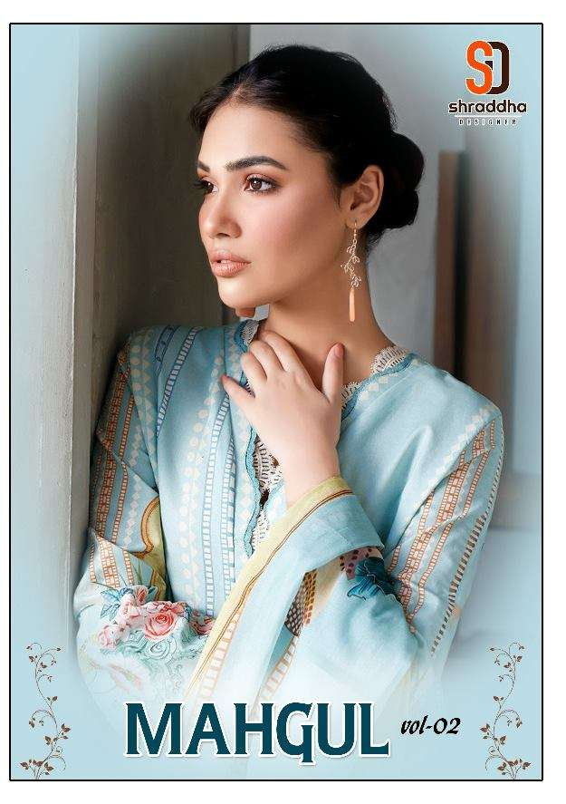 Shraddha Designer Mahgul Vol 2 lawn Cotton With Embroidery work Pakistani Suits collection